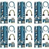 ( 6 Pack ) easyDecor 6-pin PCI-E PCI Express Riser -- 1X à 16X PCIE Carte d'adaptateur USB 3.0 Exploitation minière Carte graphique dédiée Adaptateur de câble d'extension avec câble SATA