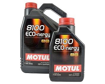 Aceite Motor Motul 8100 eco-nergy 0W-30 6 litros: Amazon.es: Coche y moto