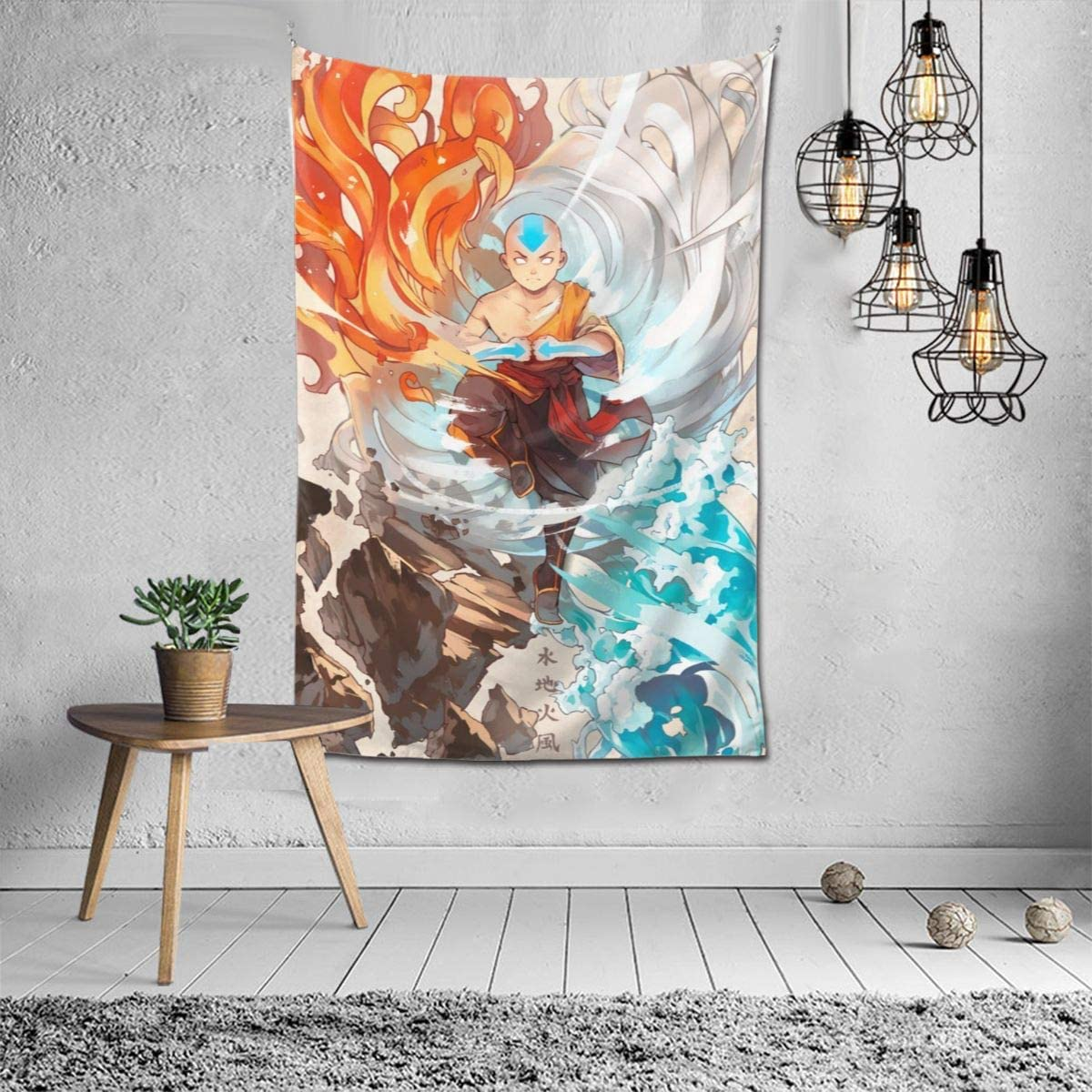 Avatar The Last Airbender Anime Tapestry Print Mural Art Tapestry Wall Hanging Tapestries For Bedroom Living Room Dorm Home D cor Japanese Tapestry 60 X 40 Inches