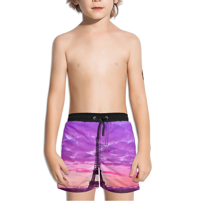 Trum Namii Boys Quick Dry Swim Trunks Eiffel Tower Paris France View Shorts
