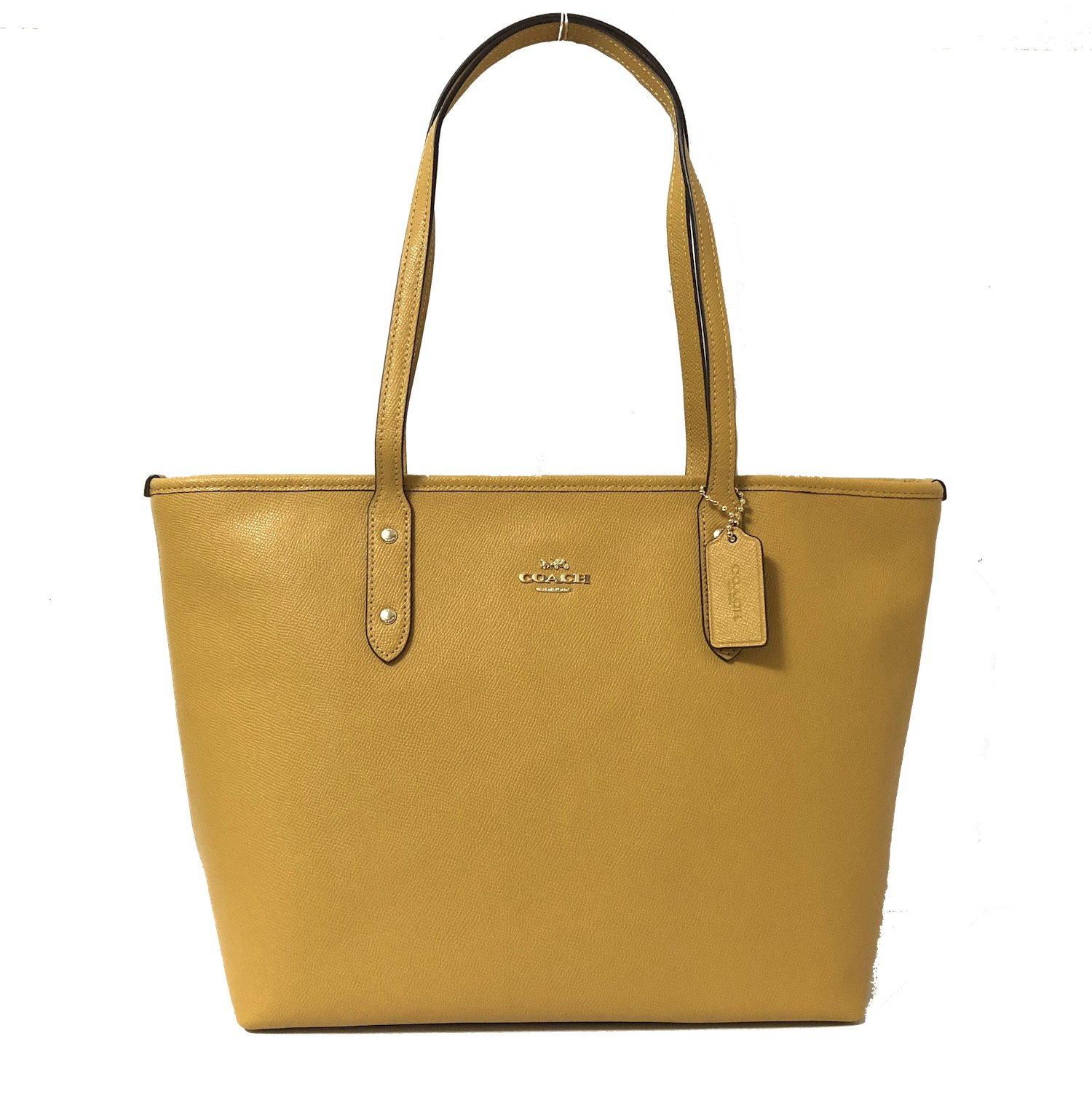 Coach City Crossgrain Leather Tote (IM/Goldenrod)