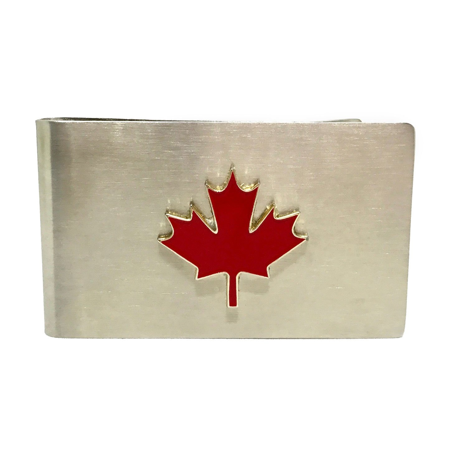 Custom Designed French-Fold Money Clip in Brushed Stainless Steel Cigar Cutters by Jim Money Clip