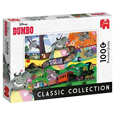Jumbo 18824 Disney Classic Collection-Dumbo 1000 Piece Jigsaw Puzzle, Multi: Toys & Games
