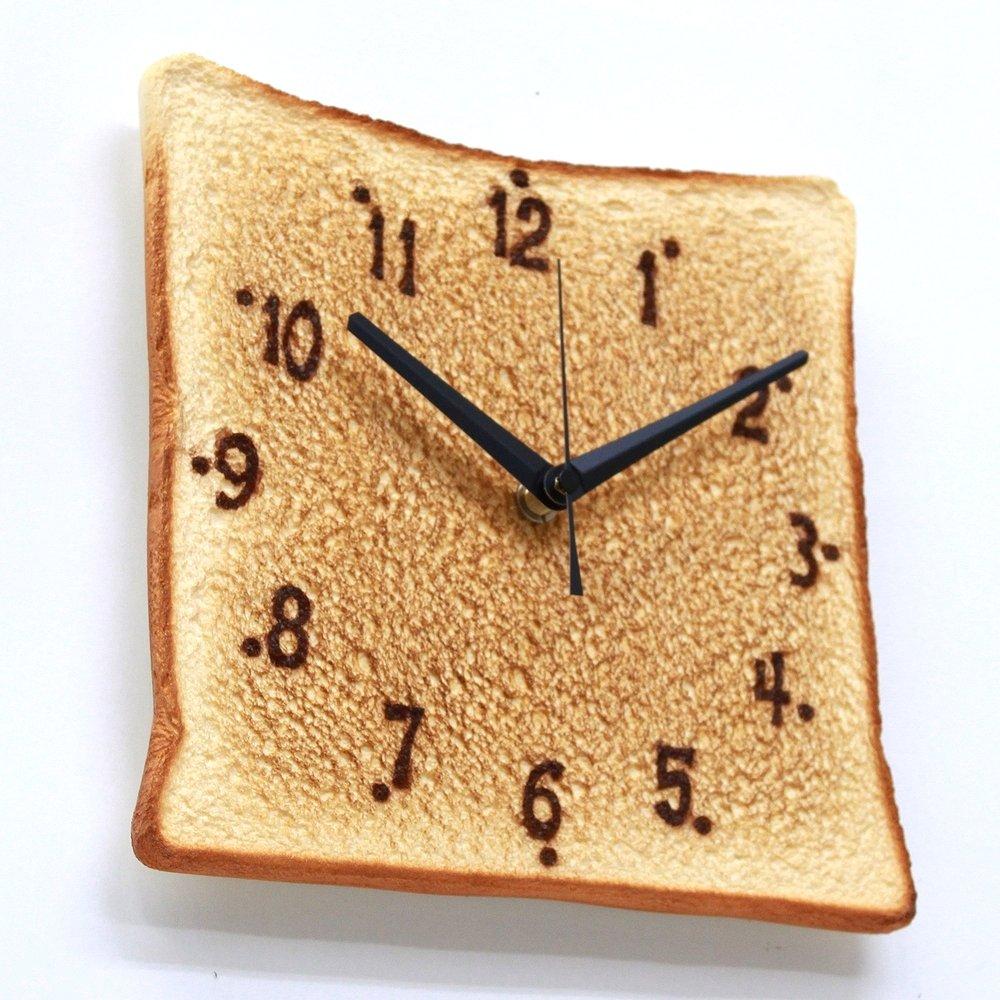 Real Gift 食パンの掛時計 SN04-3039 食品サンプルが文字盤 クオーツ 掛け時計 B01N3NIBB3