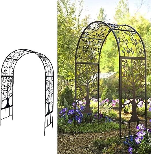 Arco de jardín de hierro para enredaderas, arco de jardín ...