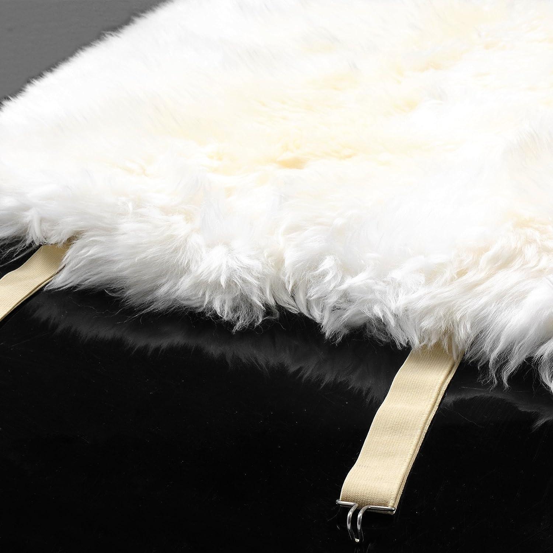 WOLTU/® AS7336dgr-2 Set of 2 Lambskin Wool Fleece Car Seat Cover Cushion 100/% Genuine Sheepskin Front Seat Covers ca.1.8cm thick Dark Grey