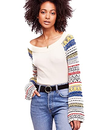 84f27cc7 Free People Fairground Thermal TOP (Ivory) at Amazon Women's ...
