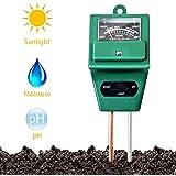 FreshDcart Solar Soil Plant Care New 3 In 1 Water Moisture Hydroponic Plants Soil Sensor Ph Light Meter, Acidity Tester