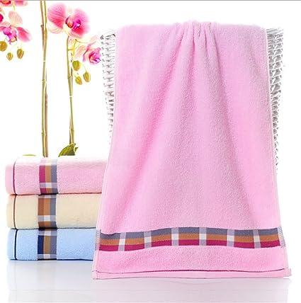 FGVBHTR 1PC Toalla de Mano Absorbente de Borde de Rayas Toalla de baño Toalla de algodón