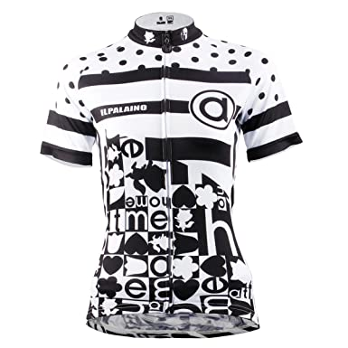 ILPALADINO Women s Cycling Jersey Short Sleeve Biking Shirts Breathable  Letters ... 6a2ec6b0b