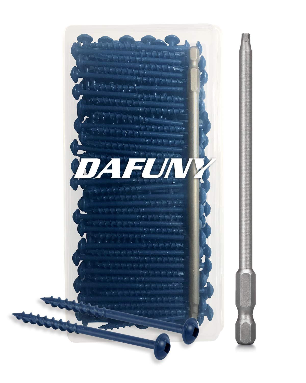 6 Length Square Recess Head Screwdriver//Power Bit 125 Count 2-1//2 Coarse Thread #8 Blue Zinc Coated Pocket Hole//Square Recess Screws 1 Piece S2 Steel 1//4 Shank 125 Pack