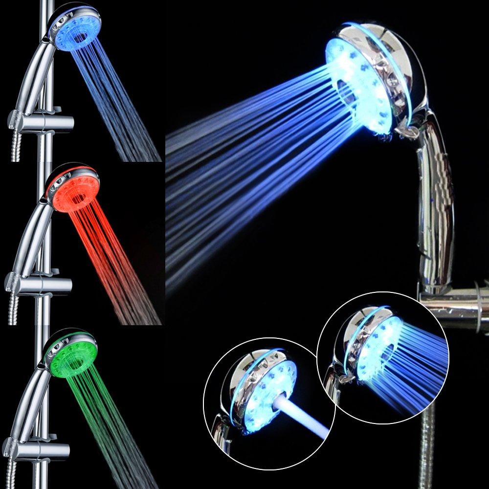 GreForest 3 Farben ändern Leuchten LED Duschkopf Für Badezimmer: Amazon.de:  Baumarkt