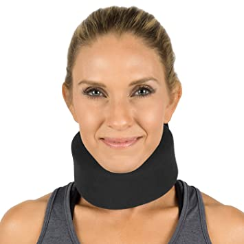 Vive Neck Brace - Soft Foam Cervical Collar - Vertebrae Whiplash Wrap  Aligns and Stabilizes Spine -