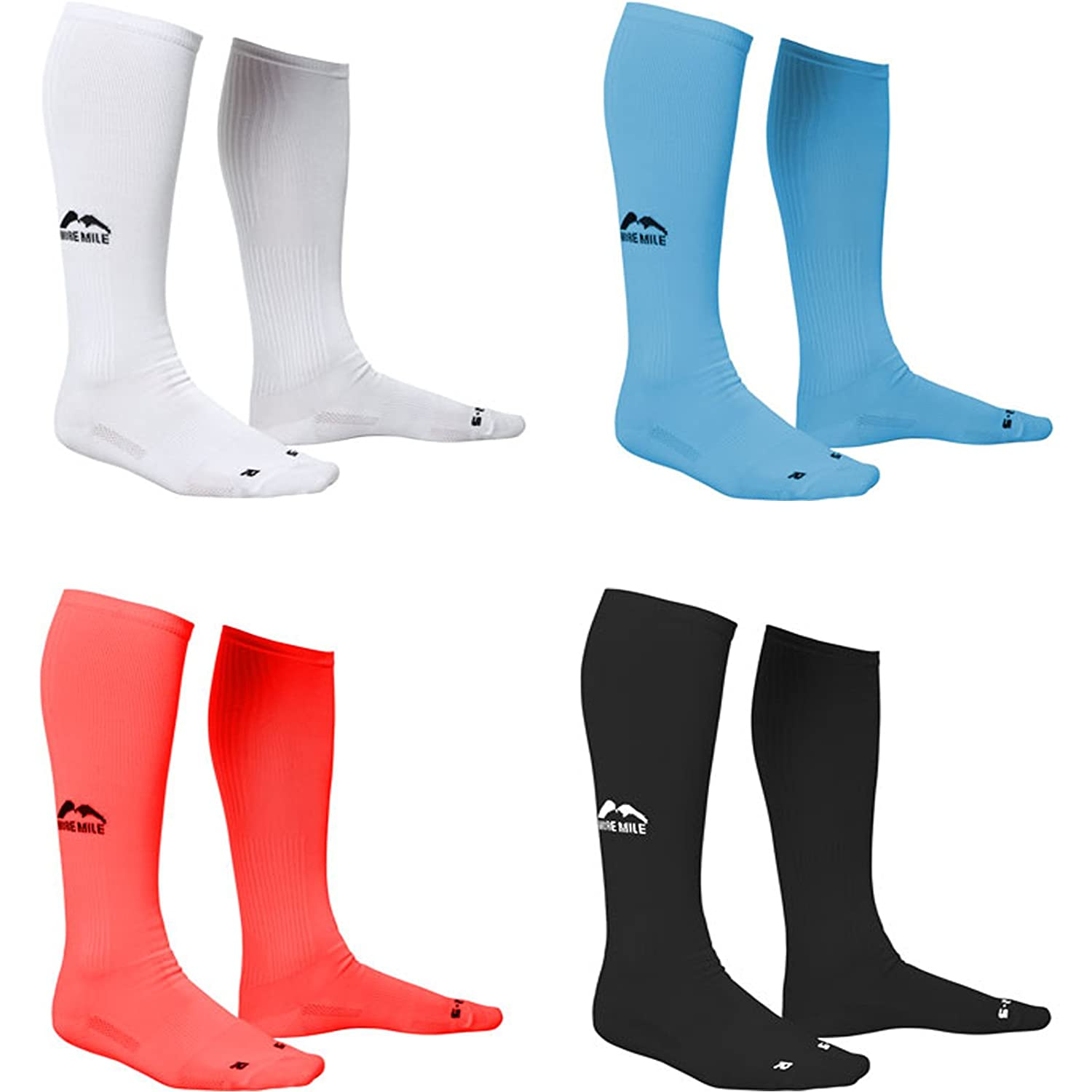 3 Pairs of More Mile Compression Running Cycling Fitness Socks Calf Length