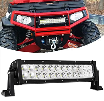 12inch 72W Led Work Light Bar Flood Spot Suv Boat Driving Lamp Offroad 4WD US