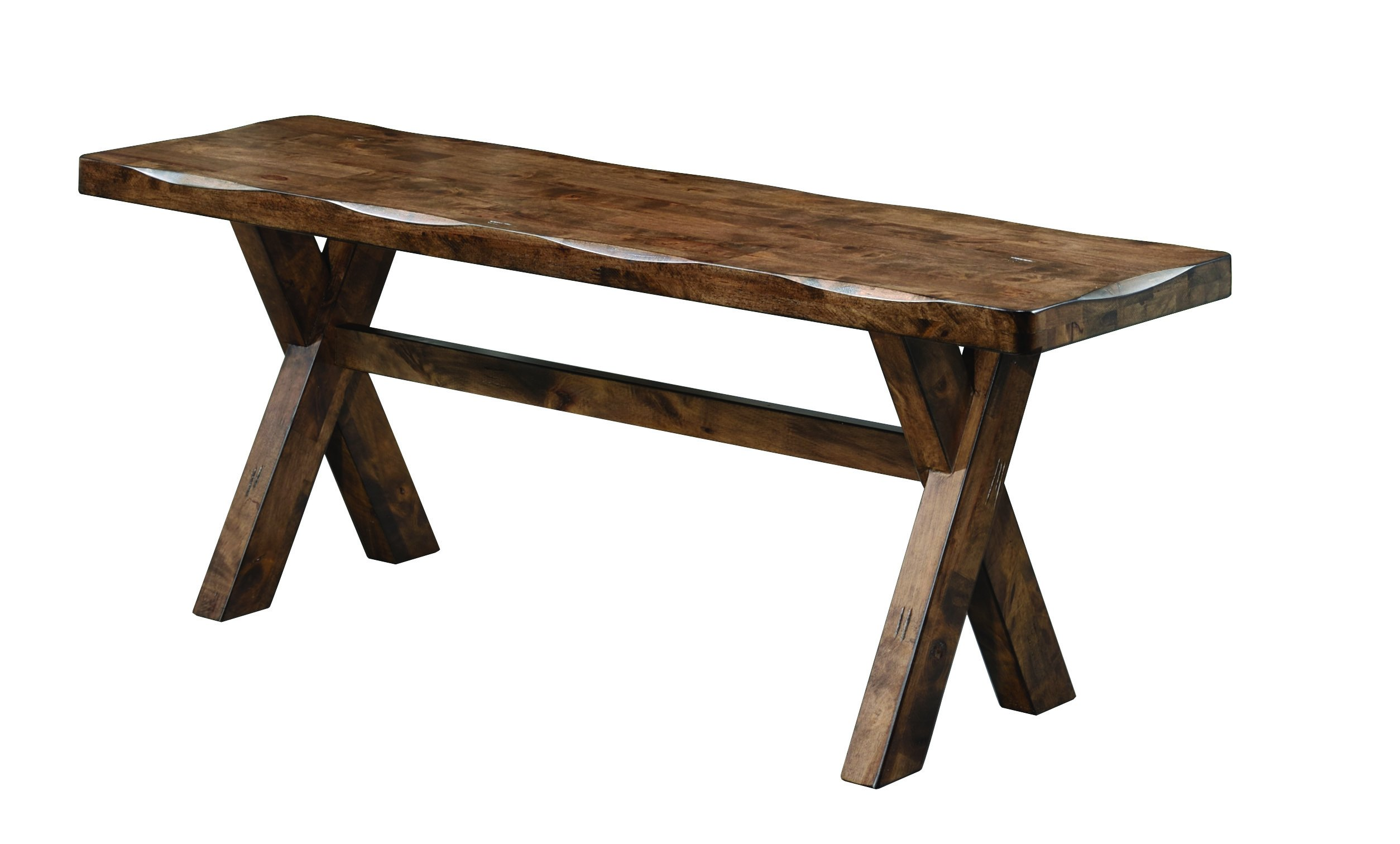 Alston Dining Bench Knotty Nutmeg by Coaster Home Furnishings