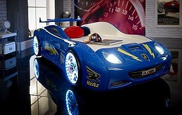 speedster viper car racer 3ft bed led and sound blue childrens kids boys
