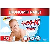 Goon Mutlu Bebek Külot Bez, 3 Beden, Jumbo Paket, 46 Adet, Beyaz