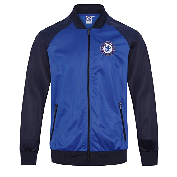 Chelsea FC Geschenk Retro 100Polyester Dunkelblau Reißverschluss Herren mit Trainingsjacke DH2IE9