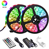 LED Strip Lights, Attuosun 32.8ft/10M Waterproof IP65 RGB Light Strips, SMD5050 300Leds Color Changing Flexible Rope…