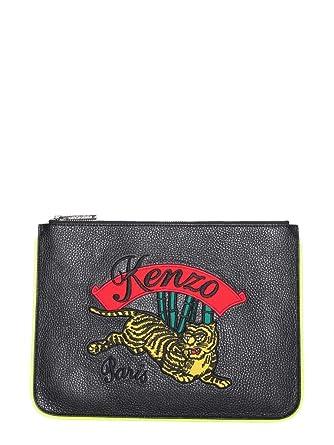 cd215b09631 Kenzo Femme F952sa807l0399 Noir Cuir Pochette  Amazon.fr  Vêtements et  accessoires