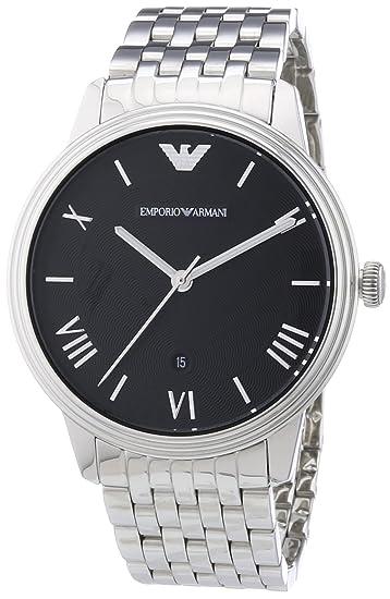 Emporio Armani Reloj Analógico para Hombre de Cuarzo con Correa en Acero Inoxidable AR1614: Amazon.es: Relojes