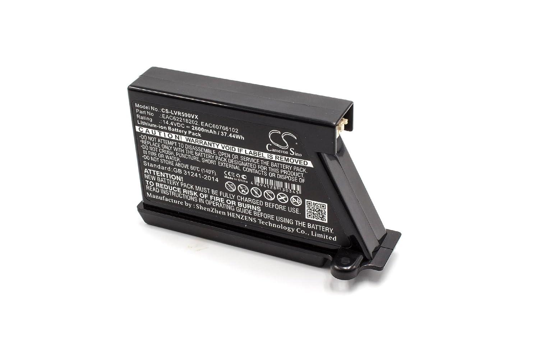 VR1128R VR1126TS VR1128SIL VR1227R pour robot aspirateur Home Cleaner LG HomBot VR1125RS VR1129RB 14.4V vhbw Li-Ion batterie 2600mAh