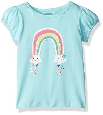 35a3423c7 Amazon.com  Gymboree Baby Girls  Toddler Rainbow Aqua Graphic Tee ...
