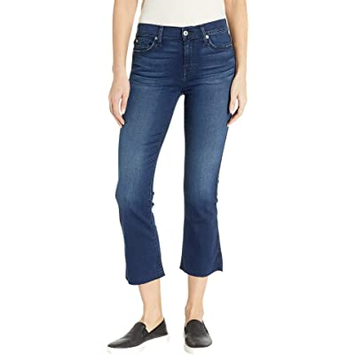 7 For All Mankind Cropped Boot in B(Air) Varnish B(Air) Varnish 26: Clothing