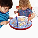 Lewo Wooden Magnetic Maze Educational Toys Dry Erase Easel Board Puzzles Games for Kids