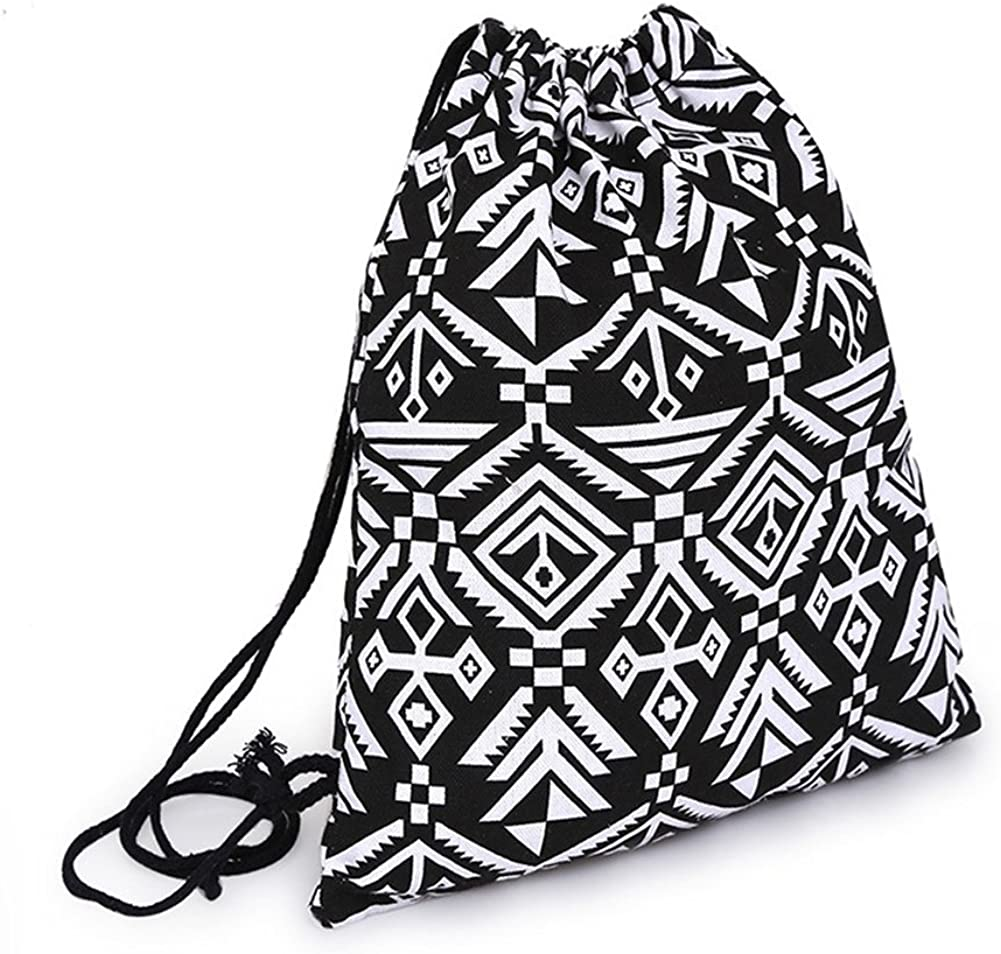 Bluelans Lady Girls Drawstring Backpack Rucksack School Bag Gym Bag Swim Bags