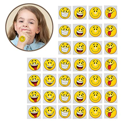 Amazon.com: Emoji Tatuajes – Pack de 36 – 2 inches Assorted ...