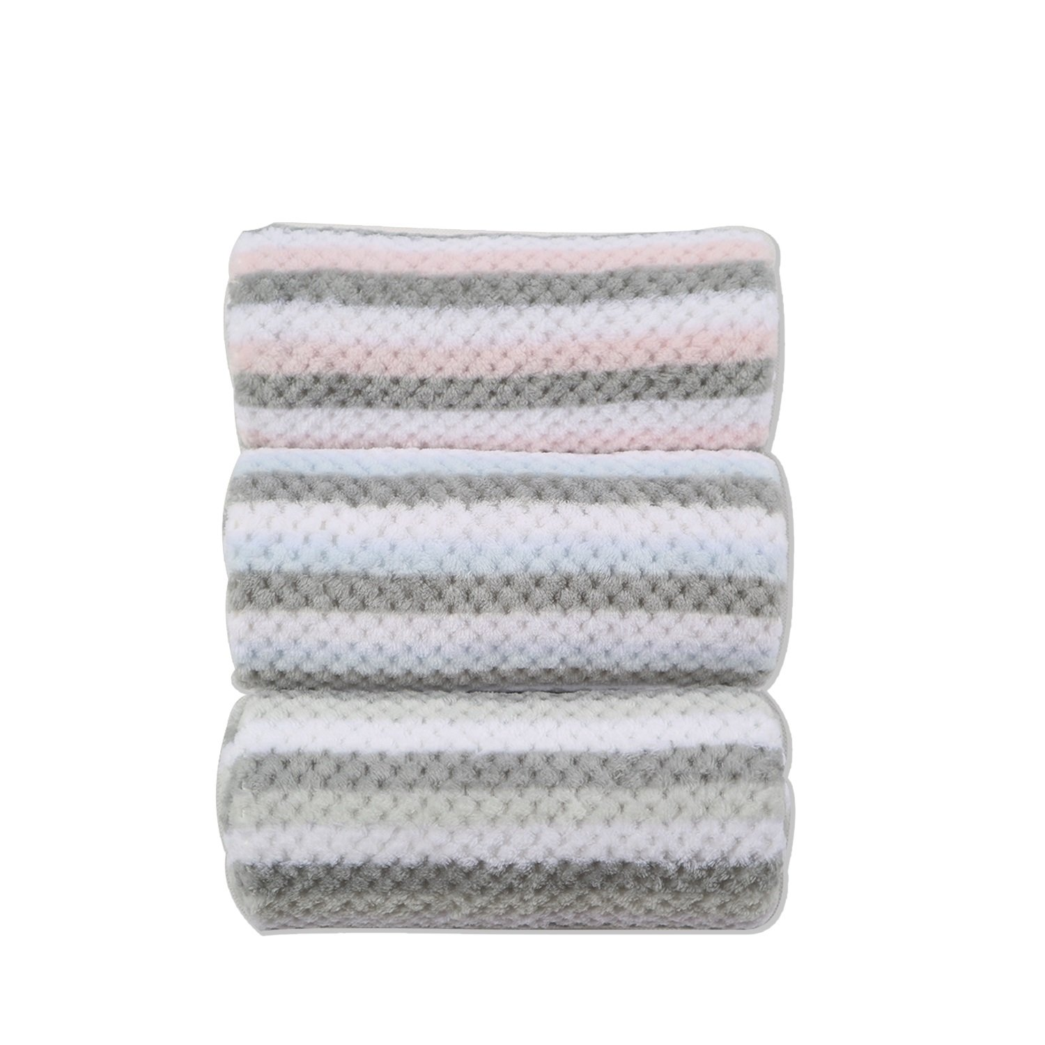 Urbestc Newborn Baby Blanket Unisex, Flannel Receiving Blankets, Softer and Warmer, 30 x 36, 3 Count