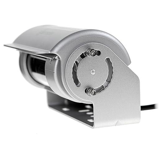 Carmedien 150 ° Premium Doble Shutter dskrfk con Shutter Limpiaparabrisas Calefacción Micrófono 12 V 24 V Plata Acero Inoxidable 1326: Amazon.es: Coche y ...