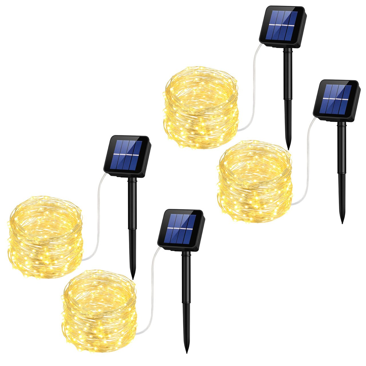 Mpow Solar String Lights, 33ft 100LED Outdoor String Lights, Waterproof Decorative String Lights for Patio, Garden, Gate, Yard, Party, Wedding, Christmas (Warm White) Cymas GECD017AS
