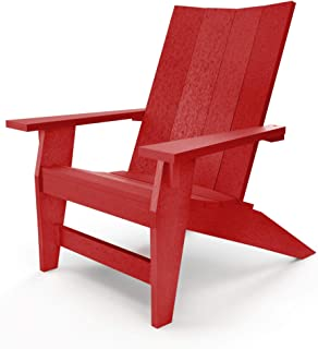 product image for Hatteras Hammocks Red Adirondack Chair, Eco-Friendly Durawood, All Weather Resistance, Fit 'N' Finish Handcrafted in The USA