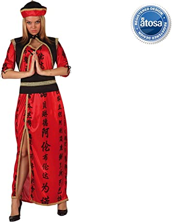 Atosa - Disfraz de china para mujer, talla XS: Amazon.es: Juguetes ...