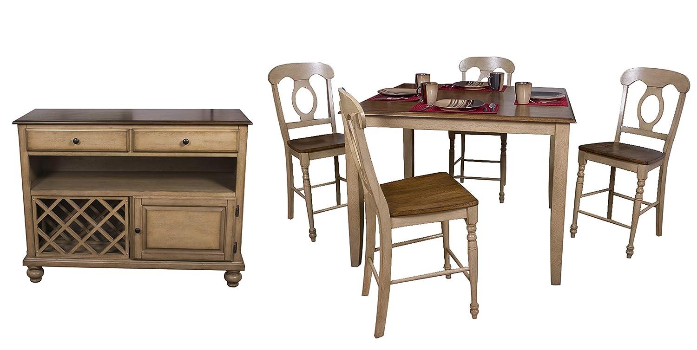 Sunset Trading Brook Dining Set, Medium, One Size, Distressed Sonoma Oak