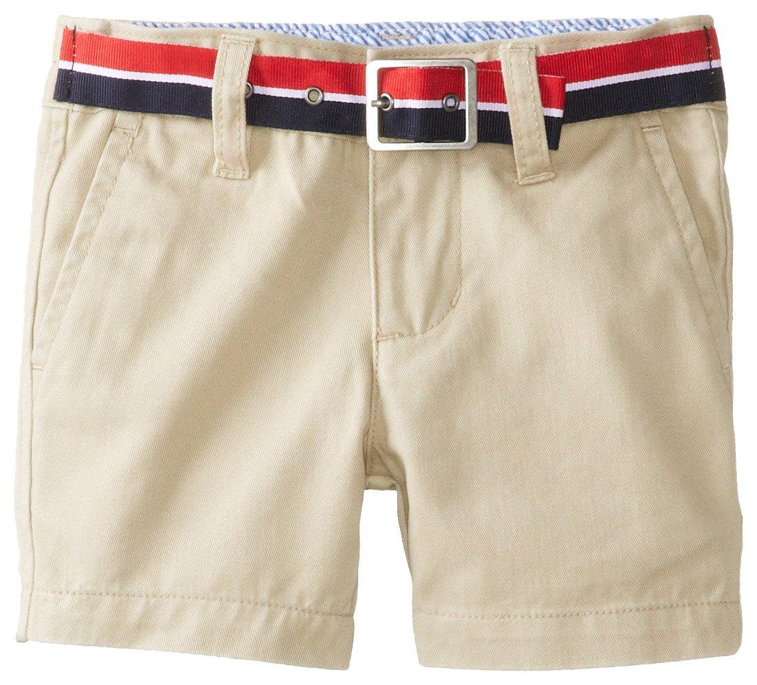 Tommy Hilfiger Baby Boys' Charlie Flat Front Short, Travel Khaki, 6 Months
