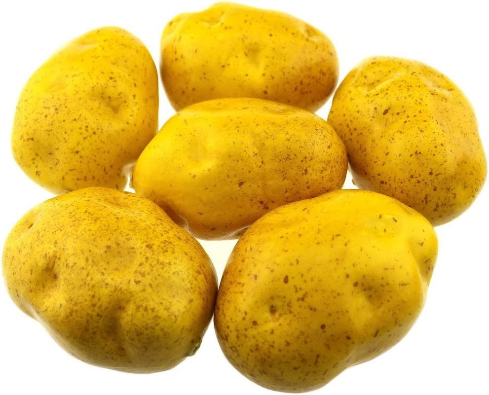 Gresorth 6pcs Artificial Potato Lifelike Fake Vegetable Home Kitchen Party Food Toy Decoration Model Props