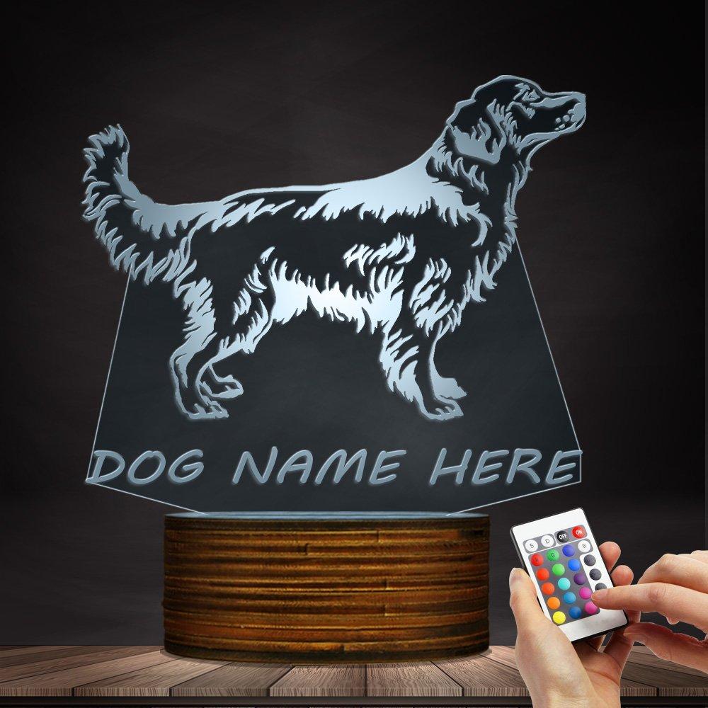3D Golden Retriever Dog LED Night Light Customiz Name Pet Desk Lamp Decorative Lighting Puppy Sleepy Light Dog Lover Gift