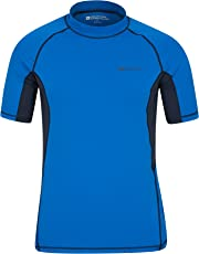 Mountain Warehouse Mens UV Rash Vest - UPF50+ UV Protection Rash Guard, Lightweight, Quick Drying Rash Top, Stretch Fabric, Flat Seams - for Swimming & Under A Wetsuit