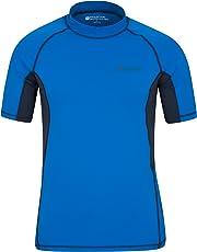 Mountain Warehouse T-Shirt Anti-UV pour Hommes - Protection UV UPF50+, léger, séchage Rapide, Tissu Stretch, Coutures Plates - pour la Natation, sous Une Combinaison