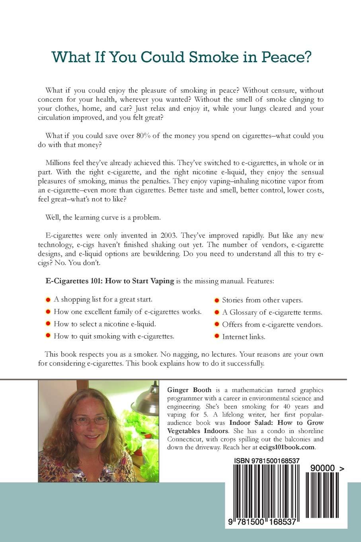 E-Cigarettes 101: How to Start Vaping (Volume 1): Ginger Booth