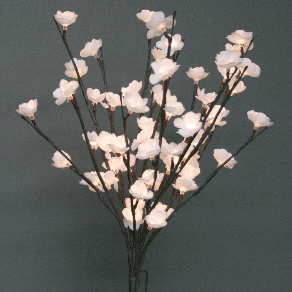 The Light Garden Wtfl6020 B Battery Powered White Plum Tree Floral
