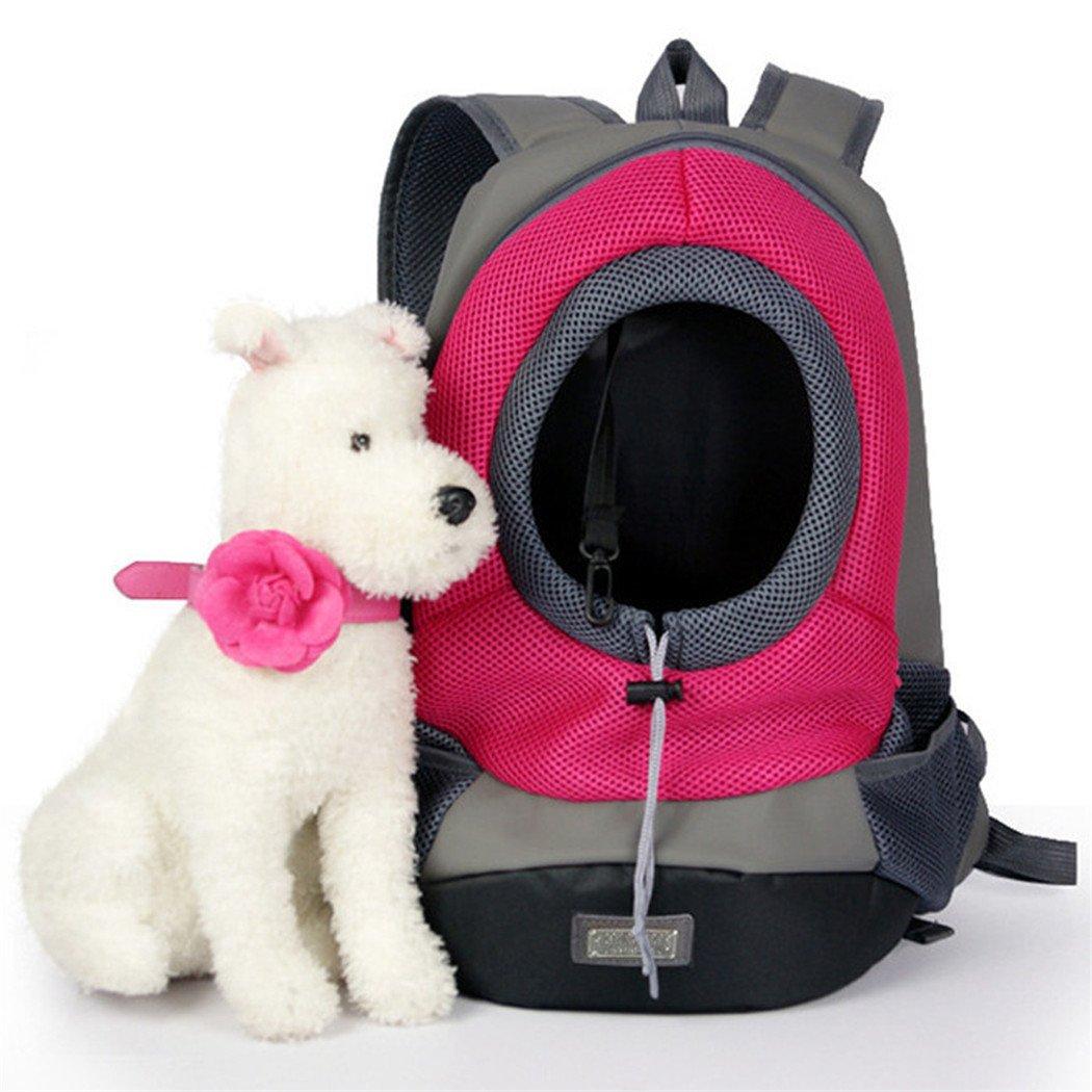 Yihya Portátil Pecho Delantero Pet Carrier Bag Bolso Hombros de Malla Bolsa Pequeña Perro Gato Perrito Externo Viajar Mochila para Mascotas Head Out: ...