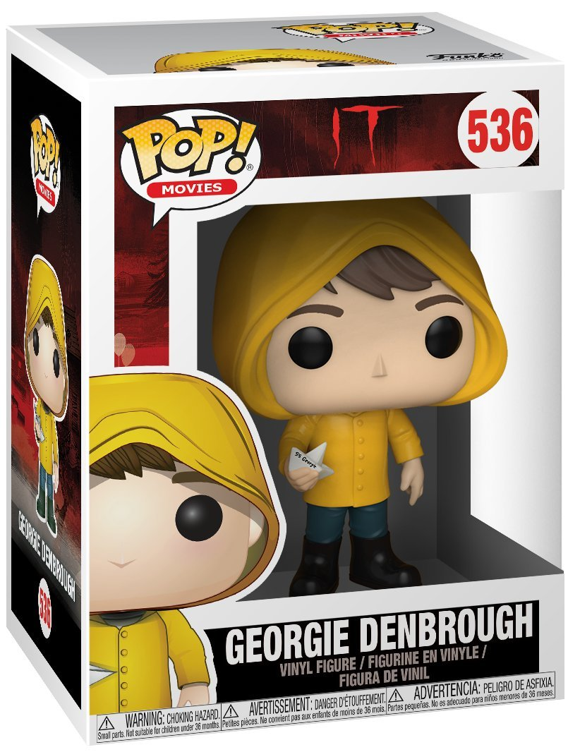 Movies: Stephen Kings It Funko Pop Bundled with Pop Box Protector Case Georgie Denbrough with Boat Vinyl Figure
