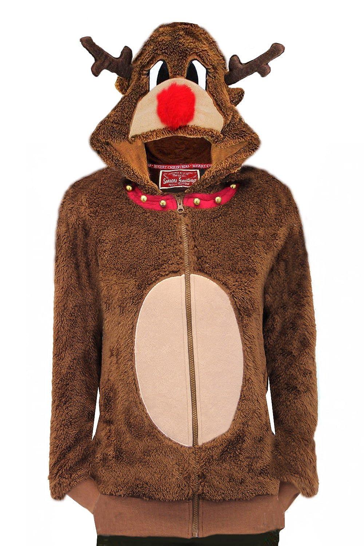 Womens Seasons Greetings Mrs Claus Or Reindeer 3D Christmas Hoodie