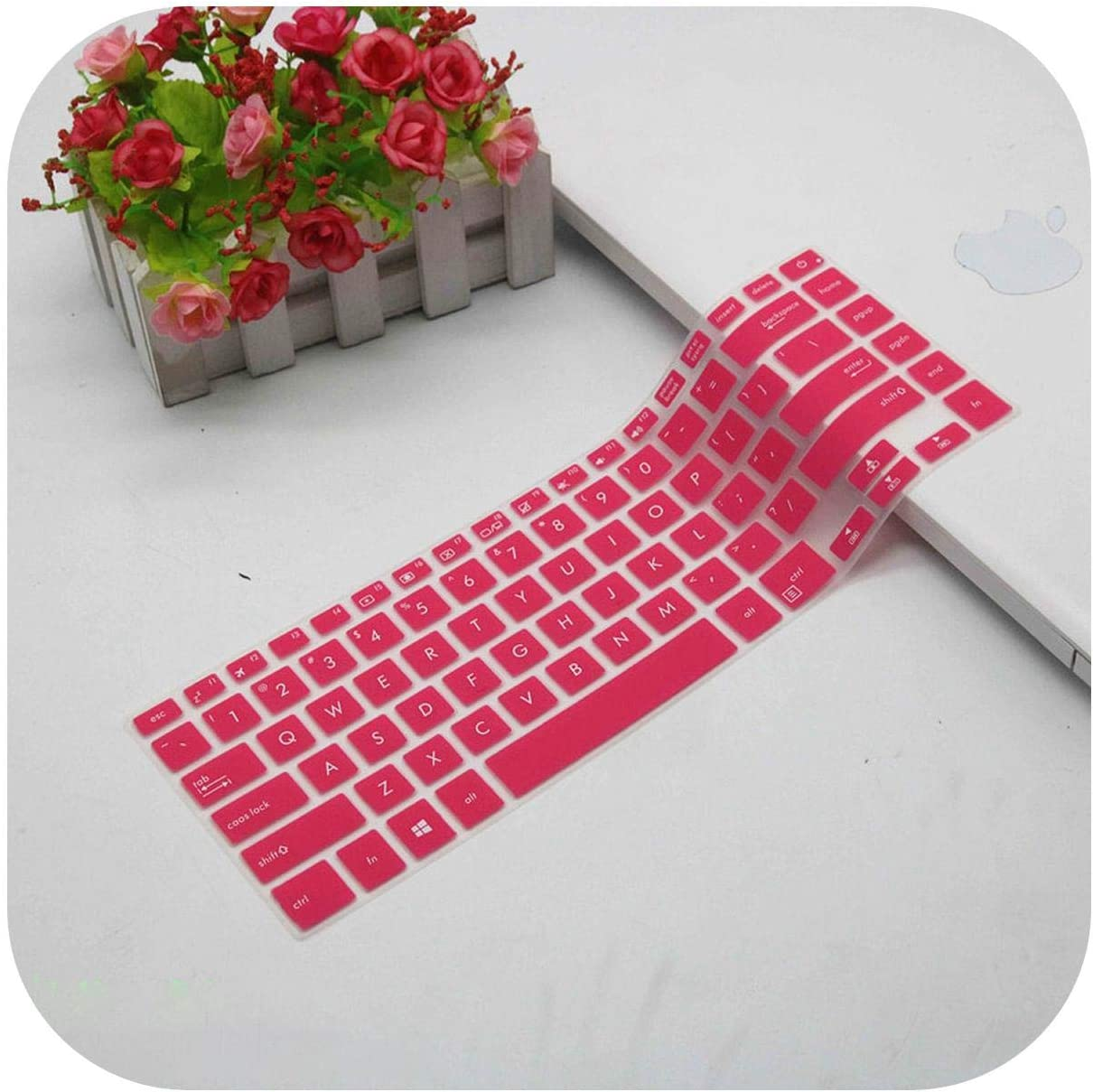 for Asus Zenbook Pro 15 Ux580Ge Ux580Gd Ux580 15.6 Inch Silicone Keyboard Protector Skin Cover Guard-Clear