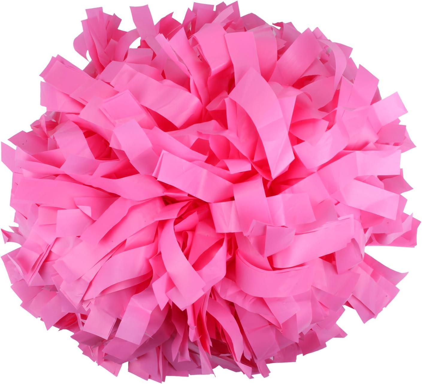 ICObuty Plastic Cheerleader Cheerleading Pom Poms 6 inch 1 Pair 2 Pieces